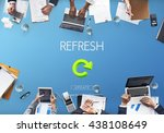 refresh restart renew vision... | Shutterstock . vector #438108649