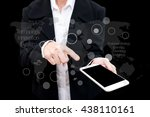 business man using smart phone... | Shutterstock . vector #438110161