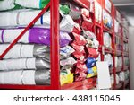 pet food packets at store | Shutterstock . vector #438115045