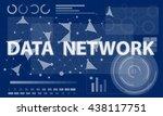 computer network internet... | Shutterstock . vector #438117751