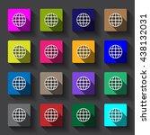 globe icon vector flat design | Shutterstock .eps vector #438132031