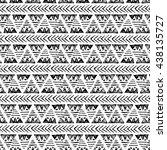 ethnic vector seamless pattern. ... | Shutterstock .eps vector #438135727