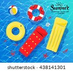 vector illustration of pool... | Shutterstock .eps vector #438141301