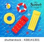 vector illustration of pool... | Shutterstock .eps vector #438141301