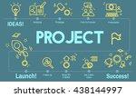 project enterprise forecast... | Shutterstock . vector #438144997