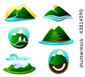 mountain graphic elements | Shutterstock .eps vector #43814590