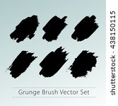 set of grunge brush vector ...   Shutterstock .eps vector #438150115