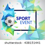 abstract soccer football poster ... | Shutterstock .eps vector #438151441