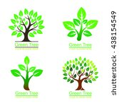 logo tree set | Shutterstock .eps vector #438154549