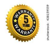 5 years warranty sign. 3d... | Shutterstock . vector #438159559