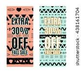 sale promotion design template... | Shutterstock .eps vector #438161704