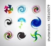 logo set. vector. abstract spa... | Shutterstock .eps vector #438165079