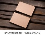 recycled paper business cards... | Shutterstock . vector #438169147