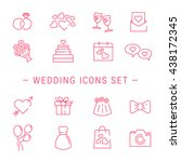 Wedding Icons. Outline Vector...