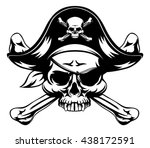 skull and crossbones pirate... | Shutterstock .eps vector #438172591