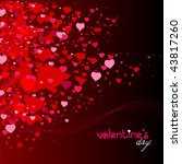 romantic background with hearts ... | Shutterstock . vector #43817260