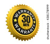 30 days warranty sign. 3d... | Shutterstock . vector #438178999