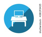 computer display icon vector