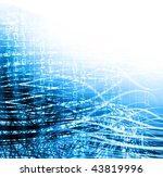 blue and white abstract... | Shutterstock . vector #43819996