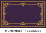 Violet And Gold Leather Book...
