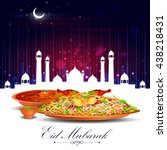 vector illustration of eid... | Shutterstock .eps vector #438218431