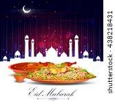 vector illustration of eid... | Shutterstock .eps vector #438218431