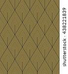 art deco vintage wallpaper... | Shutterstock .eps vector #438221839