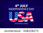 stylish american independence... | Shutterstock .eps vector #438228271