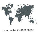 grey world map vector... | Shutterstock .eps vector #438238255