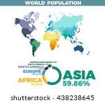 world population vector map....   Shutterstock .eps vector #438238645