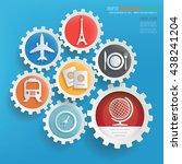 travel info graphic design on...