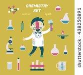 editable vector chemistry set | Shutterstock .eps vector #438250891