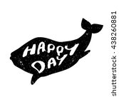 silhouette of whale. print for... | Shutterstock .eps vector #438260881