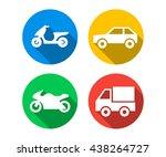 flat icon set of transport... | Shutterstock .eps vector #438264727