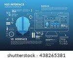 set of hud elements for virtual ... | Shutterstock .eps vector #438265381