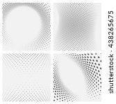 set of dotted abstract forms. | Shutterstock .eps vector #438265675