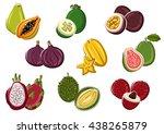 ripe fresh tropical papaya ...   Shutterstock .eps vector #438265879