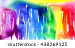 macro wash watercolor... | Shutterstock . vector #438269125