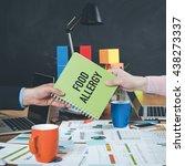 man giving book which written...   Shutterstock . vector #438273337