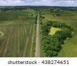Aerial View On Railway Tracks...