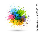rainbow paint splashes for your ... | Shutterstock .eps vector #438283165
