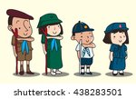 thai scout student | Shutterstock .eps vector #438283501