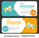 Gift certificate free vector art 4285 free downloads gift voucher template for your business megaphone and speech bubble vector illustration eps10 yadclub Gallery