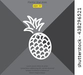 web line icon. pineapple | Shutterstock .eps vector #438296521