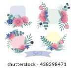 set of floral bouquets. vintage ...   Shutterstock .eps vector #438298471