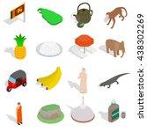 sri lanka icons set  isometric...   Shutterstock .eps vector #438302269