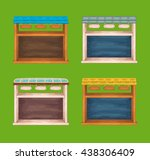 game wooden store windows set