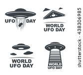World Ufo Day. Set Of Four...