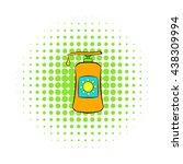 sunscreen cosmetic icon  comics ... | Shutterstock . vector #438309994