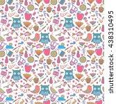 doodle summer set vector... | Shutterstock .eps vector #438310495